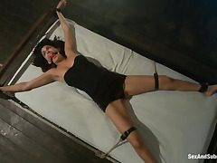 Tied to a bed and used firm