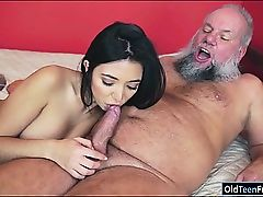 Latin Frida Sante luvs to suck and rail on an old lollipop