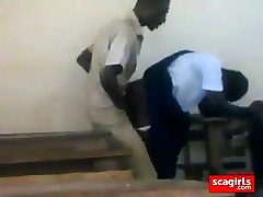 nubile african students nailing doggstyle in class