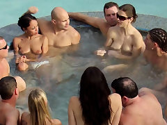Jp and wife take a dip in the hot tub
