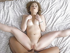 Blue-eyed cutie Alexa Flexi first time analed
