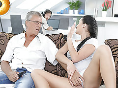 DADDY4K. Cumshot in hatch culminates nice bang-out of dad and..
