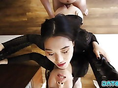 Date Ram - Sweet looking Asian babe creampied - Part 1