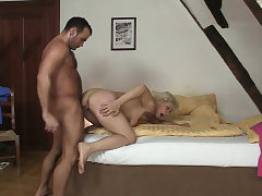 Cheating hump with super hot blonde mother-in-law