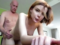 Youthful babe gets fucked hard by old man