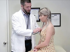 Doctors checkup completes with deep anal invasion romp for light-haired nubile
